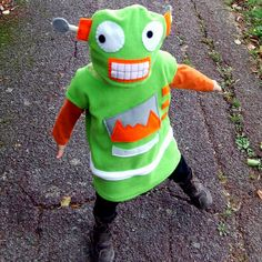 child cookie robot green costume for baby toddler. $95.00, via Etsy.