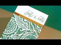 Jennifer McGuire video --- Embossing Paste + Embossing Powder - YouTube