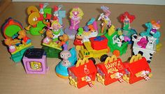1994 McDonald's Happy Meal Toys Disney Happy Birthday Train Set and other McD happy meal toy sets