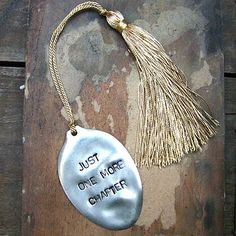 'Just One More Chapter' Vintage #spoon #Bookmark