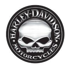 Harley-Davidson Willie G Skull Extra Large Vinyl Trailer Decal
