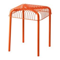 IKEA - VÄSTERÖN, Stool, indoor/outdoor, , Can be stacked, which helps you save space.Can also be used in bathrooms and other damp areas indoors.The stool is durable and easy to care for since it is made of powder-coated galvanized steel and plastic.The materials in this outdoor furniture require no maintenance.