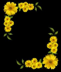 . Boarder Designs, Page Borders Design, Borders For Paper, Borders And Frames, Flower Frame, Flower Art, Sunflower Party, Vase Crafts, Framed Wallpaper