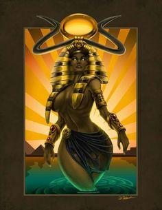 """""""Hathor-The Kemetic Goddess""""  by Dennis Paltzet"""