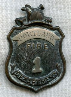 1860s Fire Department Badge from Portland, Maine or Connecticut