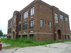 Someone bought this school and started to remodel it for their home but now it is abandoned again.