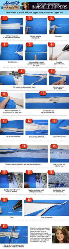 How to sew an invisible zipper!