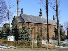 Dawna cerkiew p.w. Wniebowstąpienia Pańskiego z 1844r. Sanok-Olchowce. Obecnie kościól rzymskokatolicki