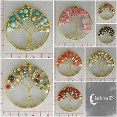 Dijes forma de arbol, bisuteria, Luz de Luna - Catalogo de joyería