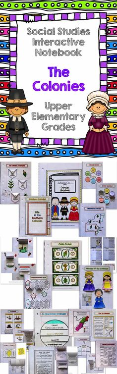 These interactive pages cover American Colonies, grades There are interactive pages for New England, Mid-Atlantic, and Southern Colonies along with individual templates for any colony or group of colonies you may be studying. I have included picture e 3rd Grade Social Studies, Social Studies Notebook, Social Studies Classroom, Social Studies Activities, Teaching Social Studies, Teaching History, Teaching Resources, Teaching Ideas, History Education