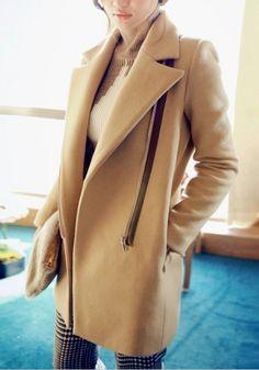 Vintage Inspired Camel Coat