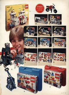 LEGO Legoland Sets from a 1984 catalog #vintage #1980s #toys