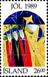Stamp: Christmas (Iceland) (Christmas (Stained-glass windows)) Mi:IS 713,Yt:IS…
