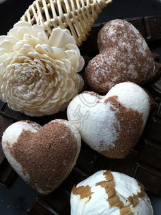 Handmade Aromatherapy Fizzy Brown White Heart by BlueAndCherry, £2.49