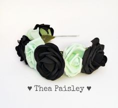 Hey, I found this really awesome Etsy listing at https://www.etsy.com/listing/175238063/pastel-goth-rose-flower-crown-classic