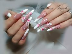 Nail Art Diy, Diy Nails, Tina's Nails, Manicures, Crazy Nail Art, Crazy Nails, French Nails, Nail Forms, Oval Nails