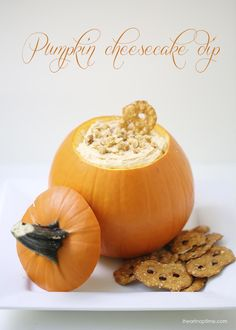 Creamy pumpkin cheesecake dip that whips up easily in 5 minutes! The perfect appetizer or dessert for any fall party!