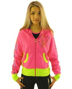 Lava Logo Hoodie 'Pink x Fluo / Neon Green- front