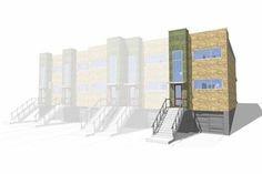 Modern Exterior - Front Elevation Plan #64-199 - Houseplans.com