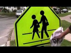 Tagaway Graffiti Remover - Removes Graffiti from School Crossing Sign.  Video from Equipment Trade Service Company Inc. for the product Tagaway. For more information go to http://www.shopetsonline.com/tagaway-p/cpcp-204505.htm