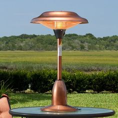 A table topper - Cool! Copper Finish Halogen Tabletop Patio Heater . $165.51