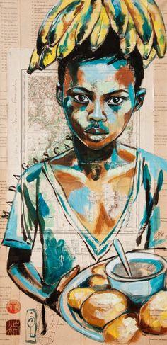 Stéphanie Ledoux - Carnets de voyage: La vendeuse de bananes et de beignets (Madagascar)