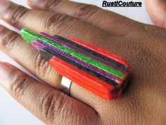 Items similar to HandCrafted Multi-Colored Linear Ring Wood Stick Ring AdjustableSilverPlated Ring Modern EcoFriendly Accessory on Etsy Stylish Womens Suits, Wood Sticks, Wood Rings, Hair Sticks, Adjustable Ring, Metal Beads, Bead Earrings, Originals, Palace
