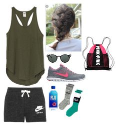 """Peru Day 3: meeting kids!!😄"" by rikey-byrnes on Polyvore featuring NIKE, Ray-Ban, Victoria's Secret PINK and Victoria's Secret"