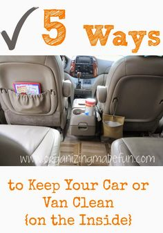It's almost fall - school just started! But, you are determined that THIS year you are going to have an organized car! @OrganizeMadeFun has got the solution for YOU! She shares all kinds of great ways she has learned to keep the vehicles organized and clean for GOOD!