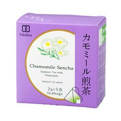 Camomileflavoured sencha green tea bags are perfect for a tea breakat home and at work. Camomiletea has a calming and lasting flavour.Foundedin 1790 in Kyoto, Fukujuen is one of the most respected and prestigious green tea sellers in Japan.  Gift packs with 6 and 9flavoured tea bags available.  6 assorted flavoured sencha green tea 9 assorted flavoured sencha green tea  Producer: Fukujuen, Kyoto Country of manufacturing: Japan Amount: 2g x 5 bags in a box Shelf life: 365 days…