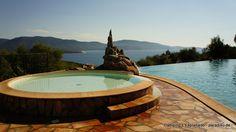Camping L'Esplanade - Korsika sehr schöner Platz mit Infinity Pool & tollem Sonnenuntergang