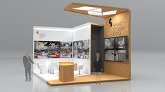Project of an exhibition stand.