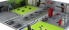 boxing gym interior design - Buscar con Google