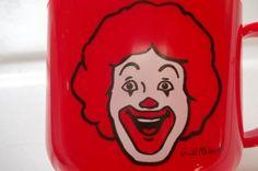 Rare Vintage Ronald McDonald Cup Collectible by Castawayacres