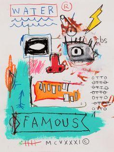Basquiat Famous Acrylic Box by denizozen - 4 X 4 X 3 Jean Basquiat, Jean Michel Basquiat Art, Arte Hippy, Basquiat Paintings, Art Graphique, Gouache, Art Inspo, Pop Art, Graffiti