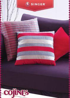 Diseña los cojines de tu sala #cojines   #decoracion #DIY – Singer México