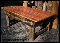 Finished piece / A beautiful Rustic Coffee Table using only discarded materials.