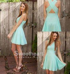 Charming Chiffon V-neck Short Prom Dress, Homecoming Dress #prom #dress #promdress $99.99