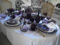 Purple/Amethyst Vintage Glassware - Includes Fairfax by Fostoria ...