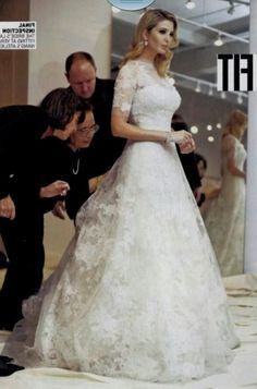 Ivanka trump and jared kushner 39 s wedding wedding ideas for Melania trump wedding dress
