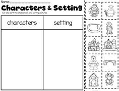 Character Setting Sort and Graphic Organizers (Bundle