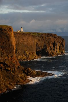 Eshaness Lighthouse in stormy last light, Shetland Isles, June by Chris Lloyd on 500px