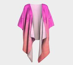 Draped Kimono Pink Orange Ombre design #artofwhere #fashion #style