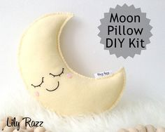 Awesome! Make this moon softie yourself with this DIY kit! Get a 20% discount today - paste into your browser: http://eepurl.com/bYlj5n