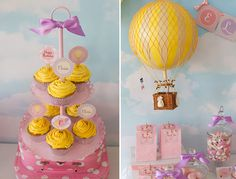 Vintage Hot Air Balloon Printables The Complete by hamandpea Kids Party Decorations, Balloon Decorations, Party Ideas, Big Balloons, Baby Shower Balloons, Hot Air Balloon Cake, Balloon Party, Air Ballon, Happy Party