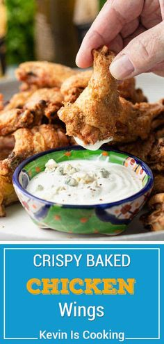 Crispy Baked Chicken Wings (Master Recipe) Crispy baked chicken wings are a tastier way to enjoy your favorite appetizer, without the greasy mess. Make this recipe to use with any wing sauce! Teriyaki Chicken Wings, Crispy Baked Chicken Wings, Turkey Recipes, Meat Recipes, Appetizer Recipes, Walnut Recipes, Party Recipes, Sandwich Recipes, Snack Recipes
