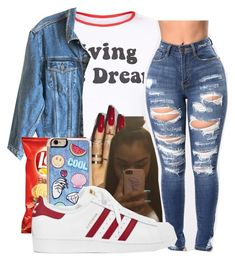 """""""1:06 am"""" by littydee ❤ liked on Polyvore featuring Calvin Klein Jeans, Zero Gravity and adidas"""