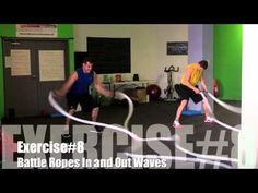Top 20 Battle Ropes Exercises. One of my favorite videos for a variety of cardio heavy rope exercises
