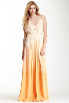 Veve Ombre T-Strap Maxi Dress by Woodleigh on @HauteLook