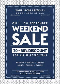 Sale Flyer Design Template - Commerce Flyer Template PSD. Download here: https://graphicriver.net/item/sale-flyer/17645597?ref=yinkira